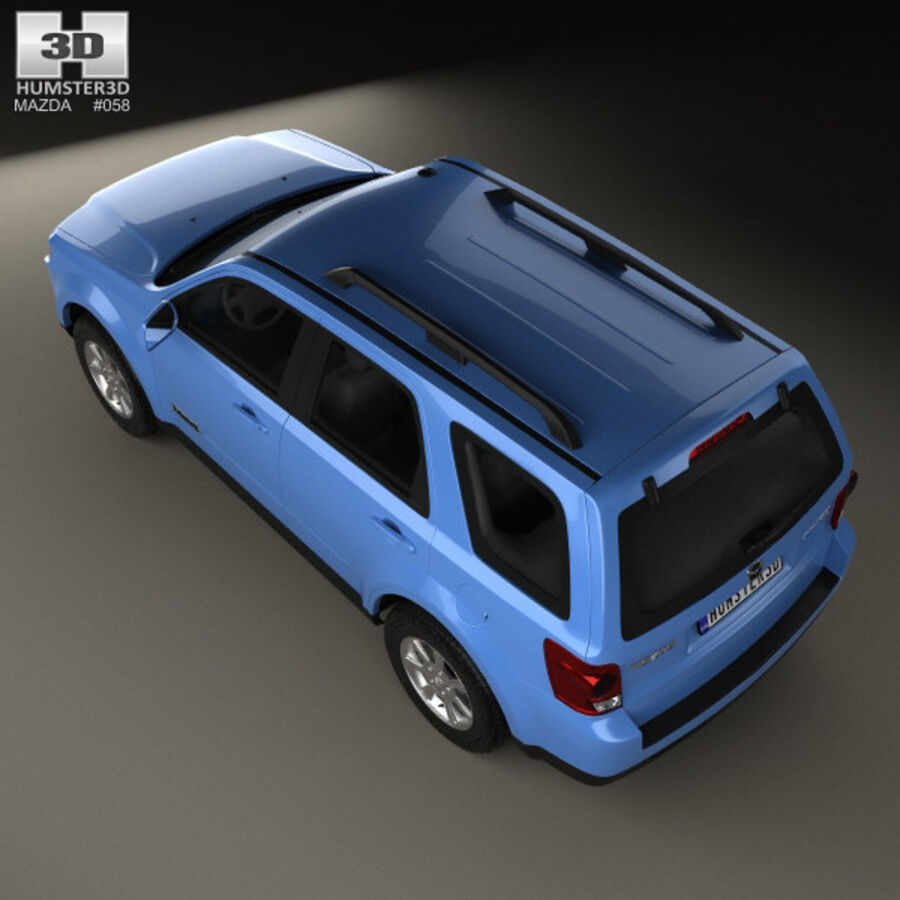Mazda Tribute 2007 royalty-free 3d model - Preview no. 9