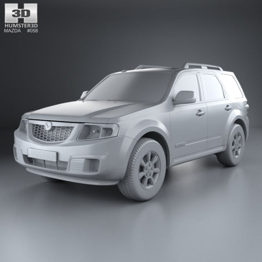 Mazda Tribute 2007 royalty-free 3d model - Preview no. 11