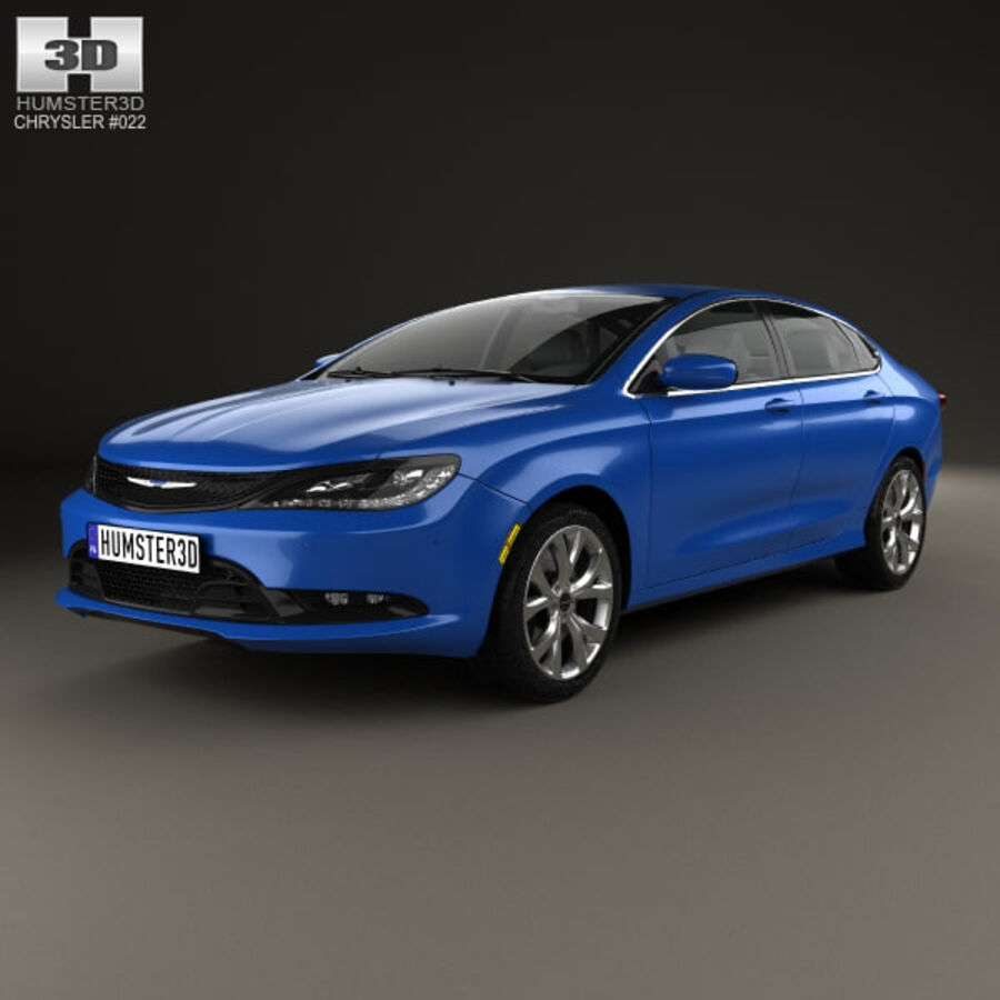 Chrysler 200 S 2015 royalty-free 3d model - Preview no. 1