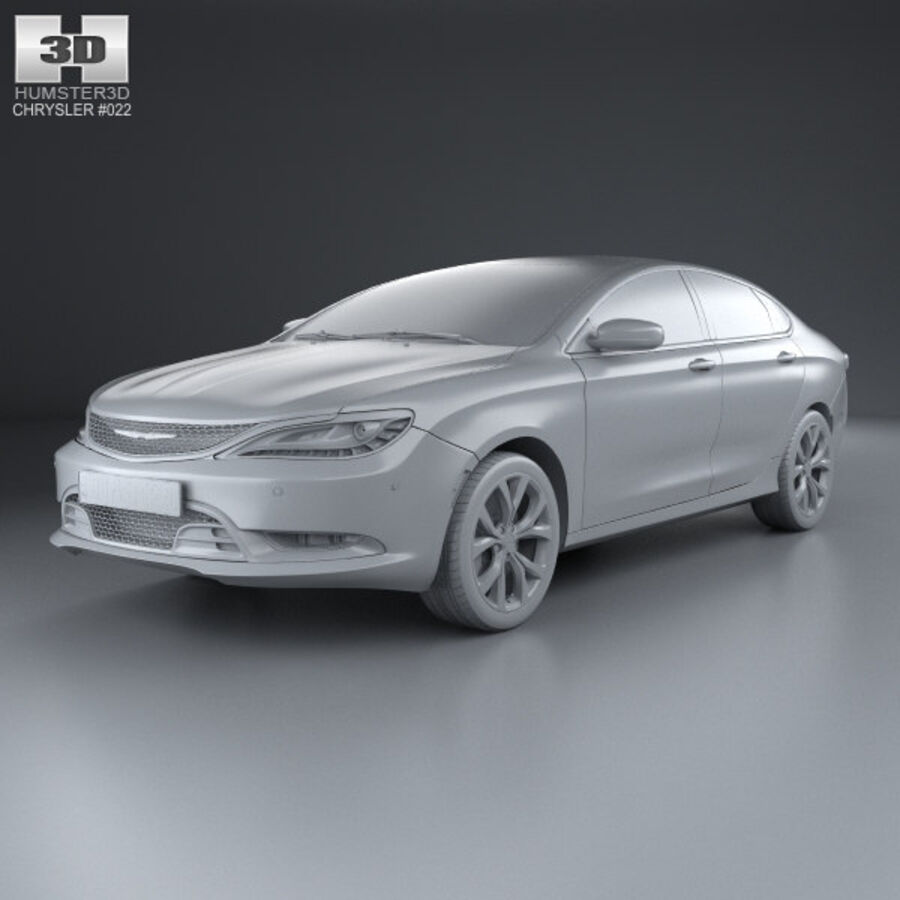 Chrysler 200 S 2015 royalty-free 3d model - Preview no. 11