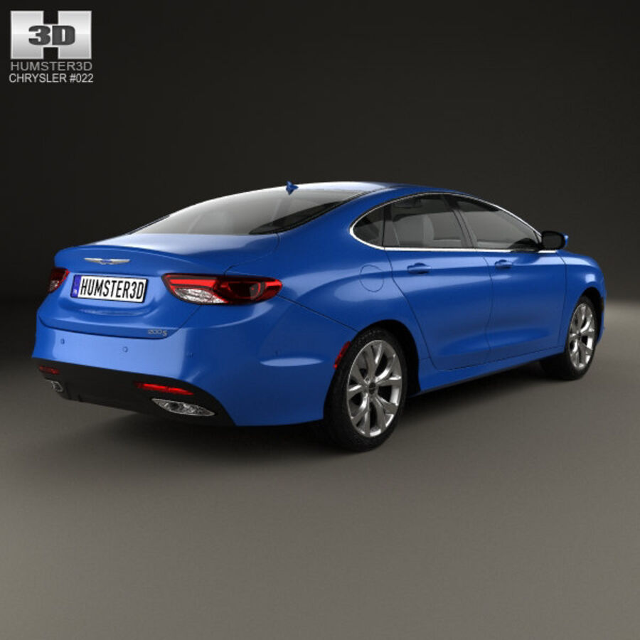 Chrysler 200 S 2015 royalty-free 3d model - Preview no. 2