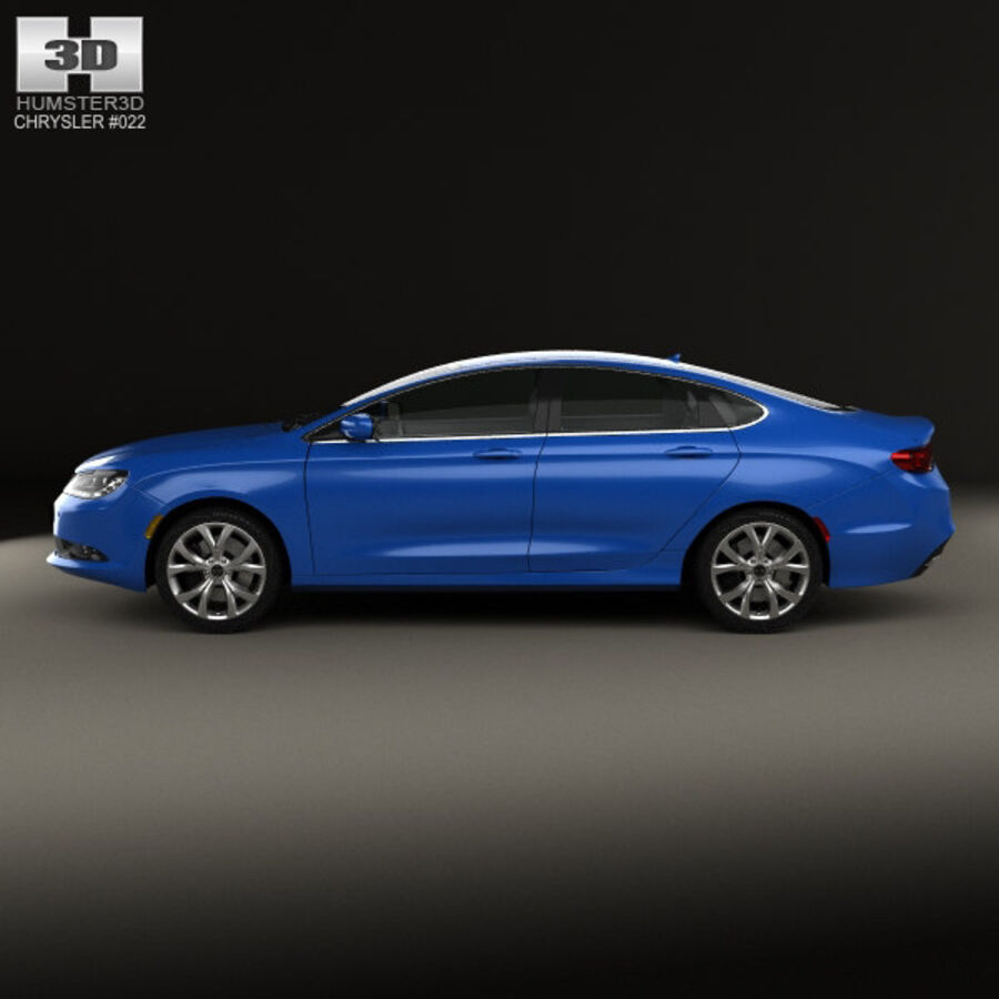Chrysler 200 S 2015 royalty-free 3d model - Preview no. 5