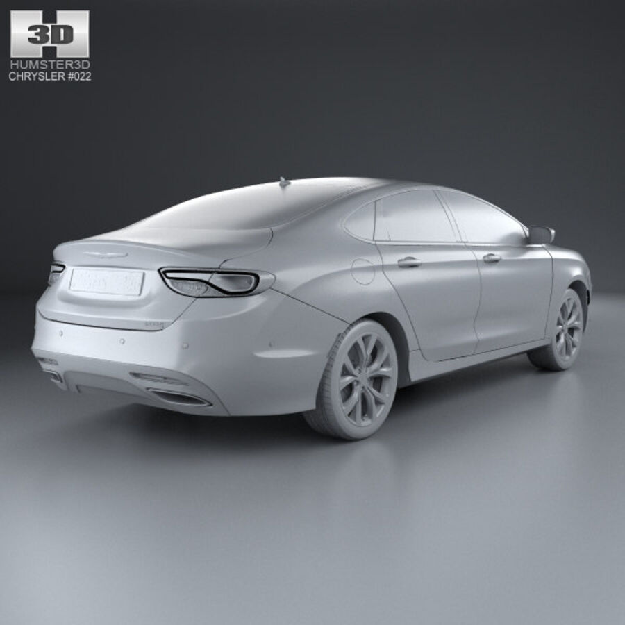 Chrysler 200 S 2015 royalty-free 3d model - Preview no. 12