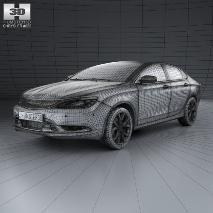 Chrysler 200 S 2015 royalty-free 3d model - Preview no. 3