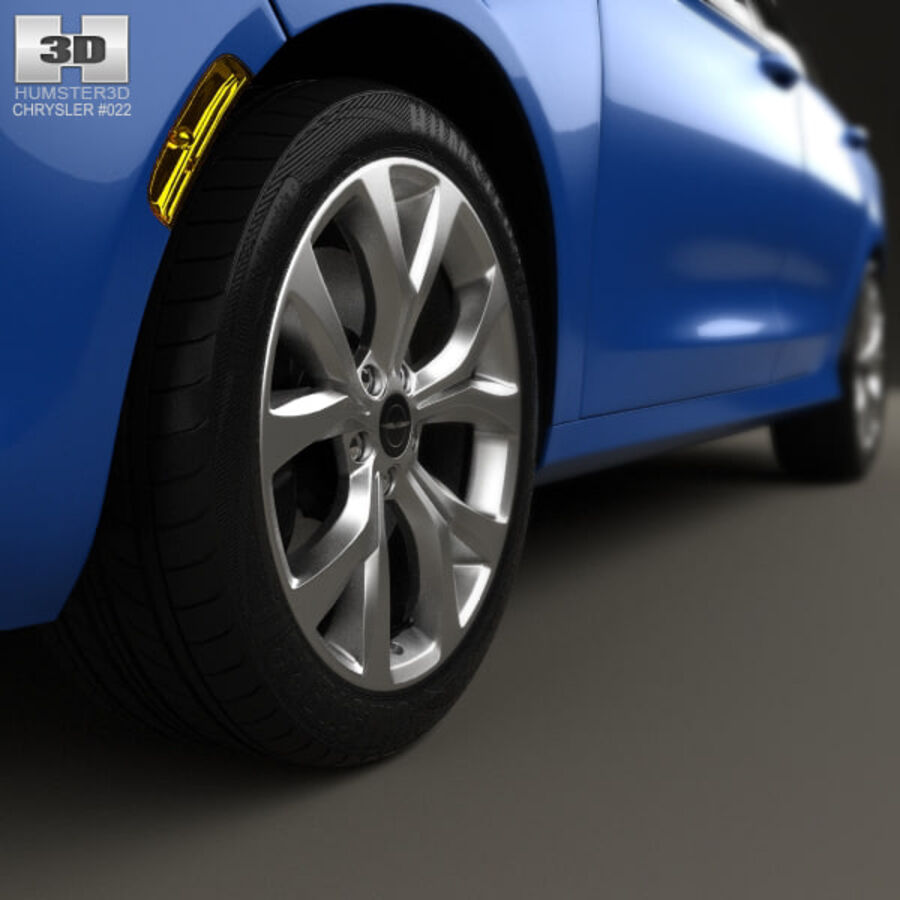 Chrysler 200 S 2015 royalty-free 3d model - Preview no. 8