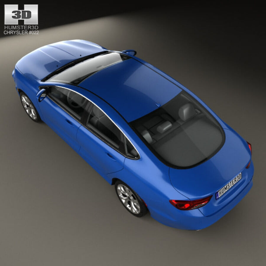 Chrysler 200 S 2015 royalty-free 3d model - Preview no. 9