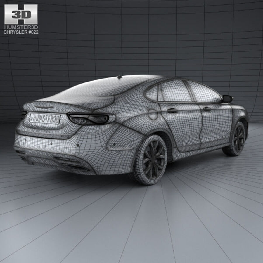 Chrysler 200 S 2015 royalty-free 3d model - Preview no. 4