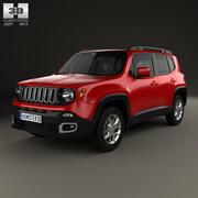 Jeep Renegade Latitude 2015 3d model