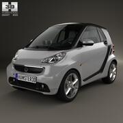 Smart Fortwo cupé 2012 modelo 3d