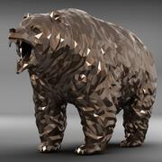 곰 다각형 3d model