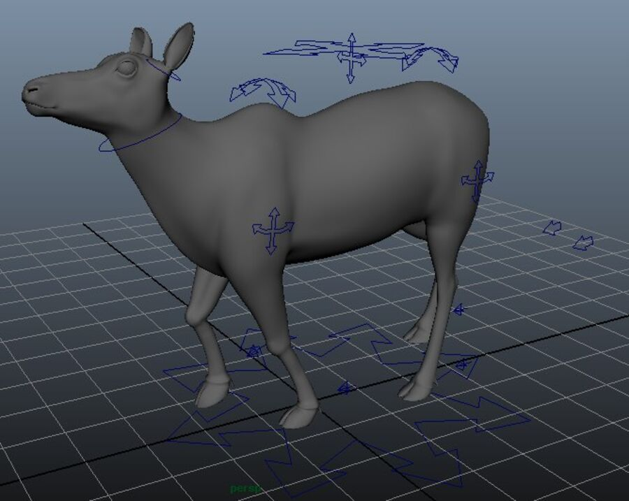 Hirsch royalty-free 3d model - Preview no. 4