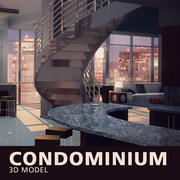 Interior del Condominio modelo 3d