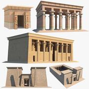 Sammlung ägyptischer Tempel 3d model