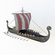 Viking ship drakkar 3d model 3d model