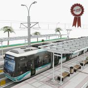 Tram e tram 3d model