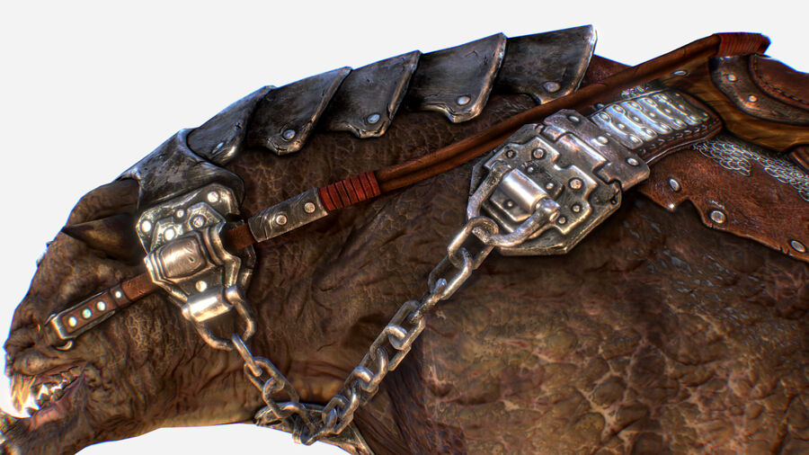 Creature mount Mastodont royalty-free 3d model - Preview no. 14