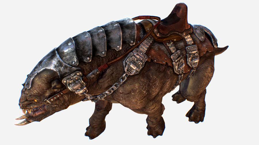 Creature mount Mastodont royalty-free 3d model - Preview no. 30