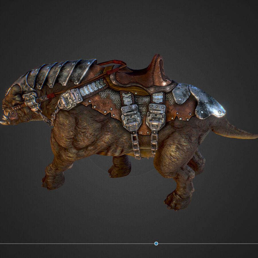Creature mount Mastodont royalty-free 3d model - Preview no. 36