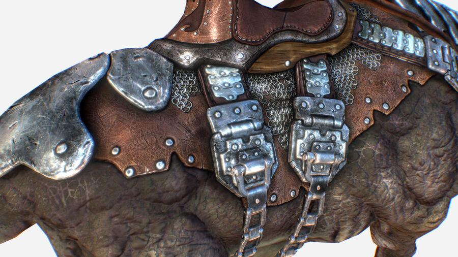 Creature mount Mastodont royalty-free 3d model - Preview no. 22