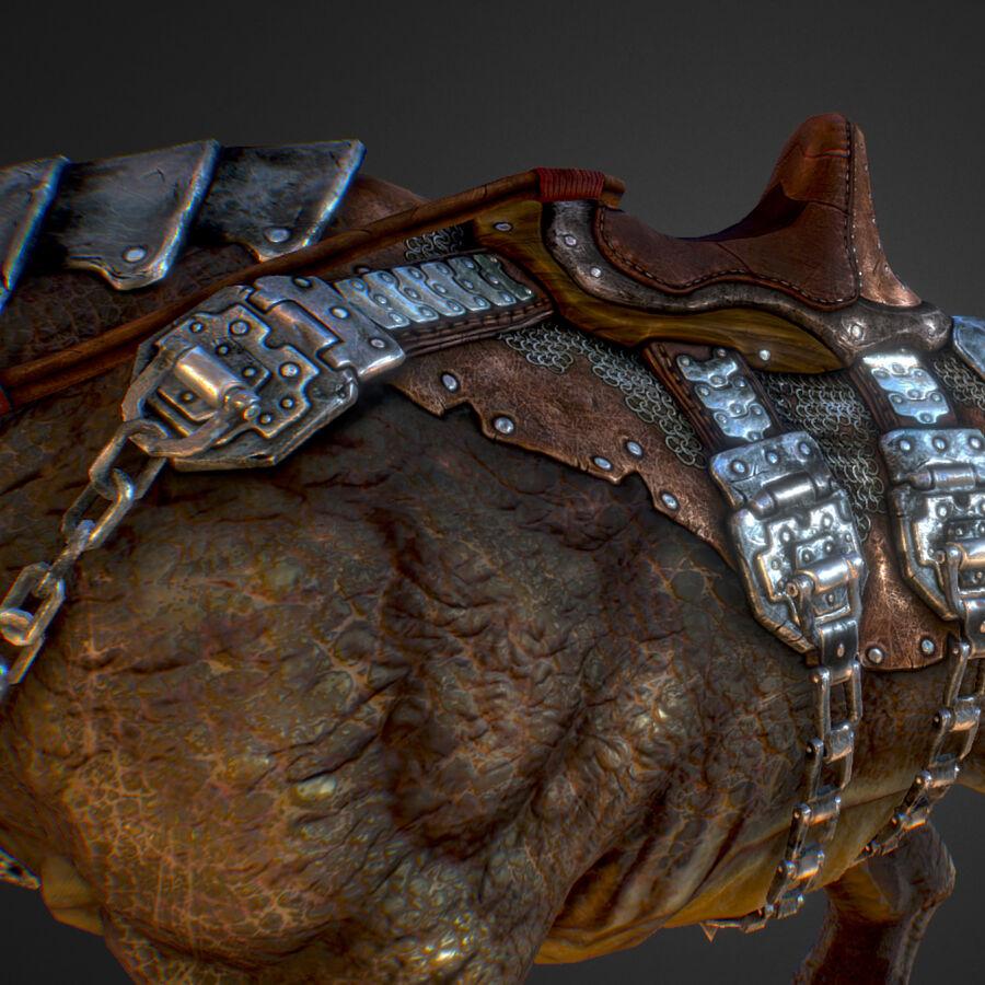 Creature mount Mastodont royalty-free 3d model - Preview no. 41