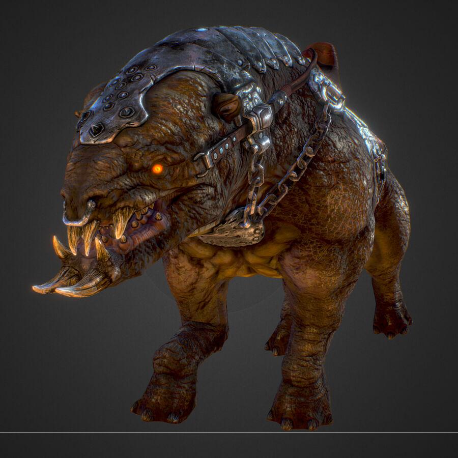 Creature mount Mastodont royalty-free 3d model - Preview no. 39