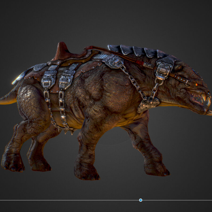 Creature mount Mastodont royalty-free 3d model - Preview no. 32