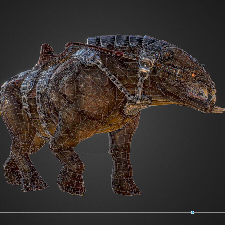Creature mount Mastodont royalty-free 3d model - Preview no. 48