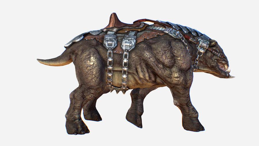 Creature mount Mastodont royalty-free 3d model - Preview no. 9