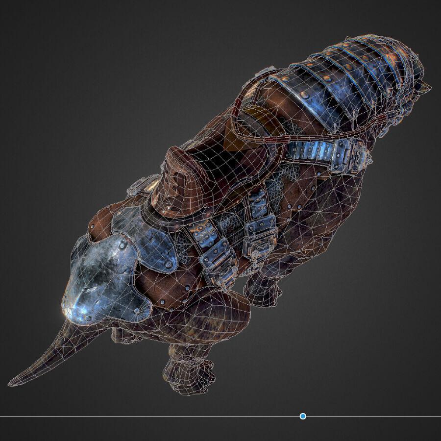 Creature mount Mastodont royalty-free 3d model - Preview no. 50