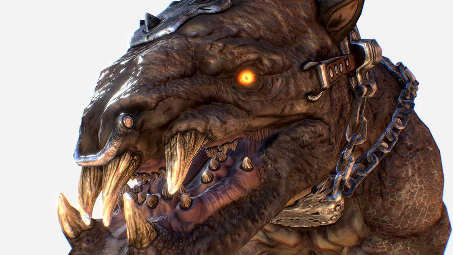 Creature mount Mastodont royalty-free 3d model - Preview no. 15
