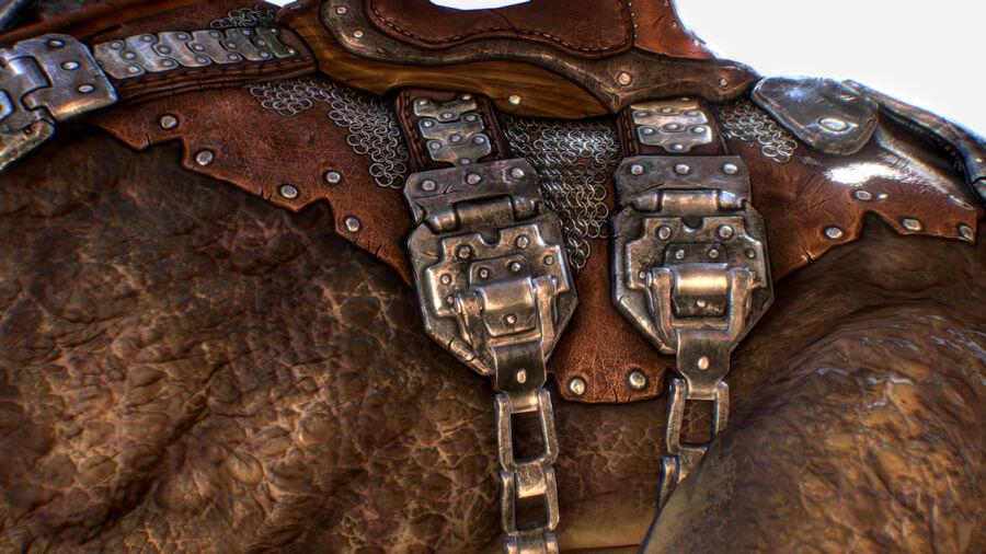 Creature mount Mastodont royalty-free 3d model - Preview no. 13