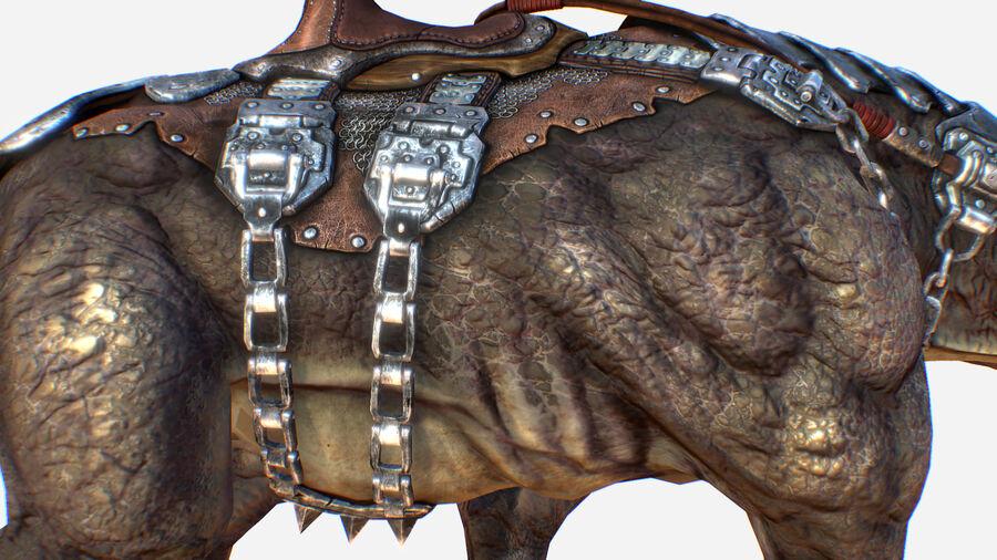 Creature mount Mastodont royalty-free 3d model - Preview no. 10