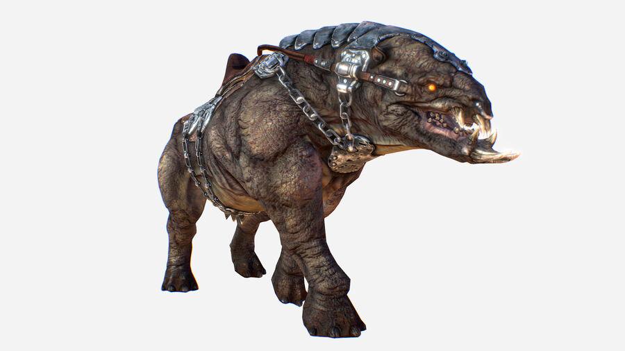 Creature mount Mastodont royalty-free 3d model - Preview no. 2