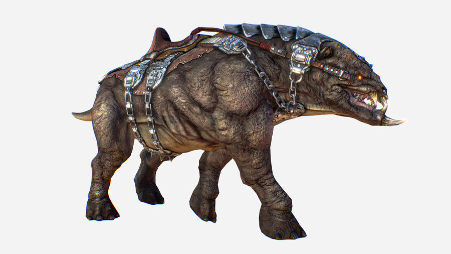 Creature mount Mastodont royalty-free 3d model - Preview no. 1