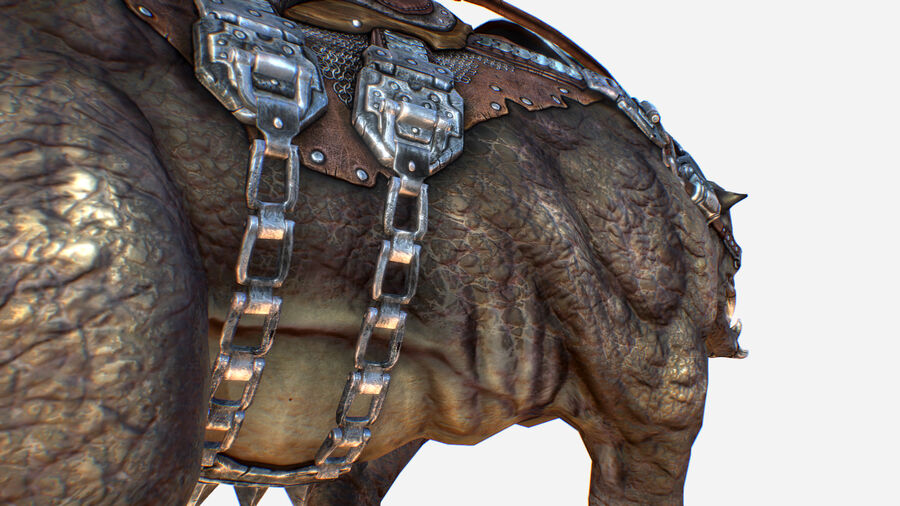 Creature mount Mastodont royalty-free 3d model - Preview no. 21