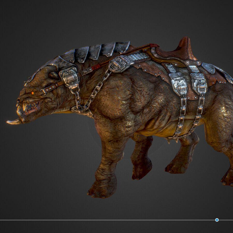Creature mount Mastodont royalty-free 3d model - Preview no. 38