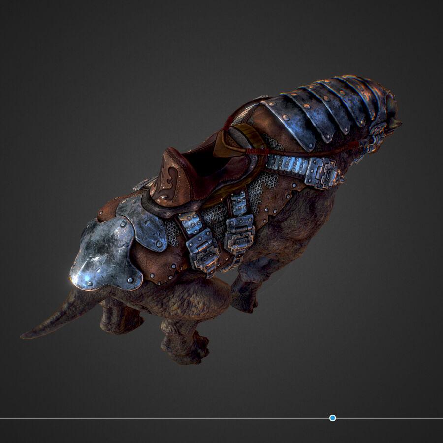 Creature mount Mastodont royalty-free 3d model - Preview no. 34