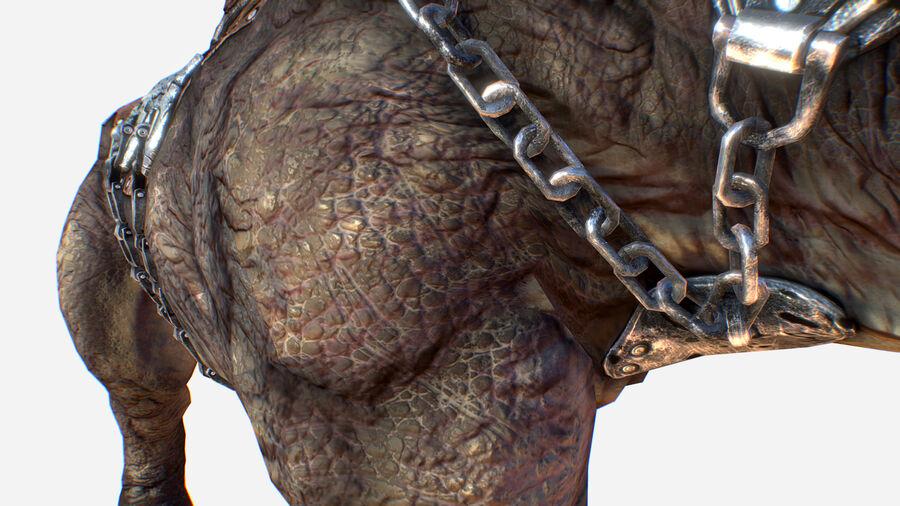 Creature mount Mastodont royalty-free 3d model - Preview no. 19