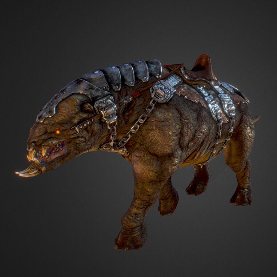 Creature mount Mastodont royalty-free 3d model - Preview no. 37