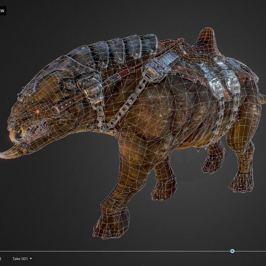 Creature mount Mastodont royalty-free 3d model - Preview no. 52