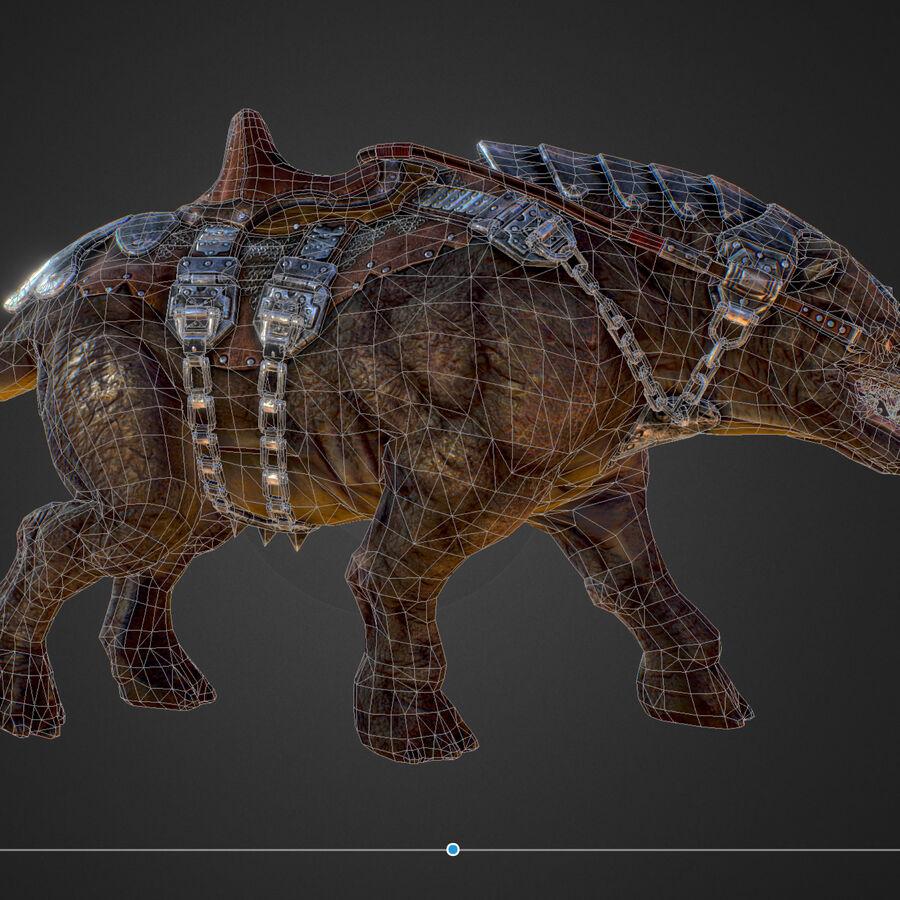 Creature mount Mastodont royalty-free 3d model - Preview no. 49