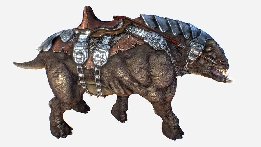 Creature mount Mastodont royalty-free 3d model - Preview no. 29