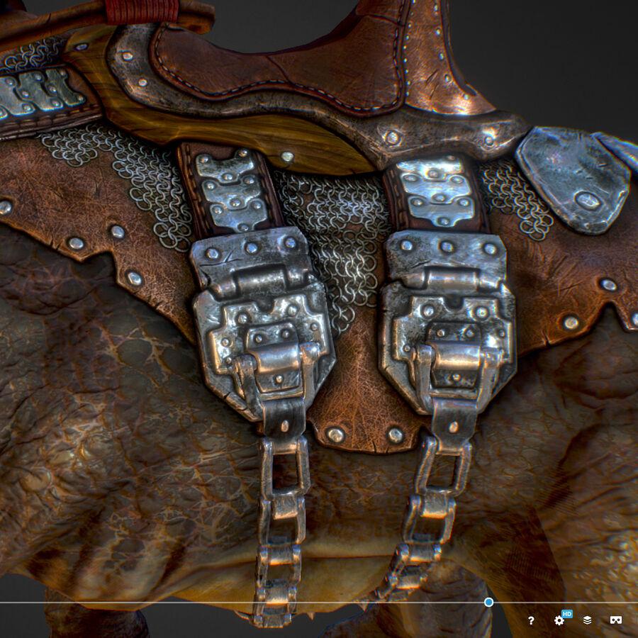 Creature mount Mastodont royalty-free 3d model - Preview no. 42