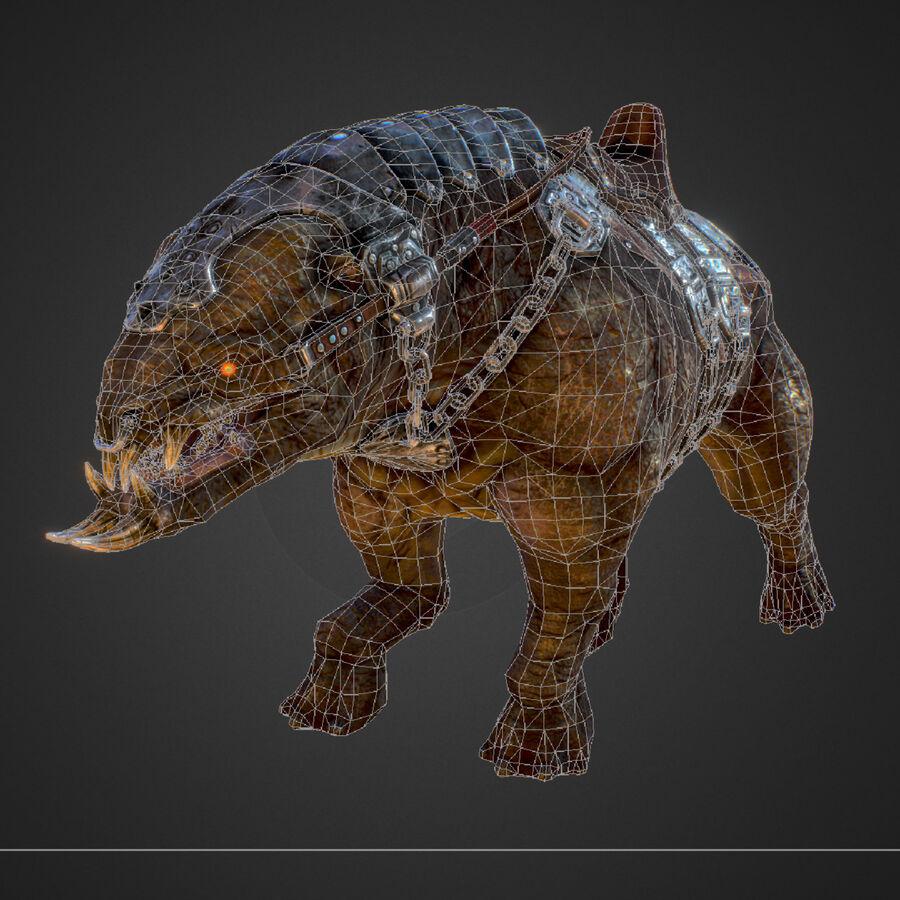 Creature mount Mastodont royalty-free 3d model - Preview no. 53