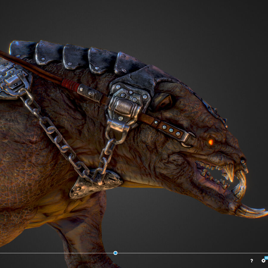 Creature mount Mastodont royalty-free 3d model - Preview no. 47
