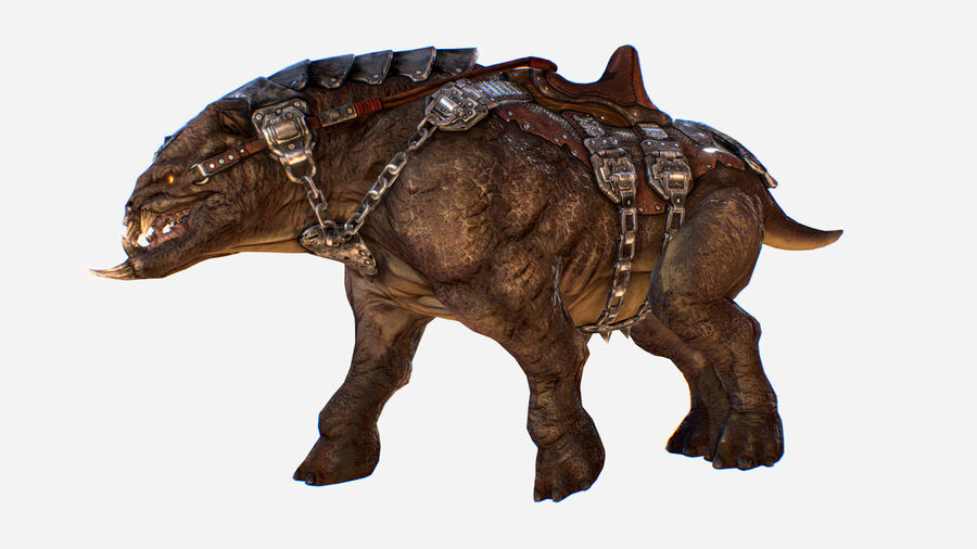 Creature mount Mastodont royalty-free 3d model - Preview no. 6