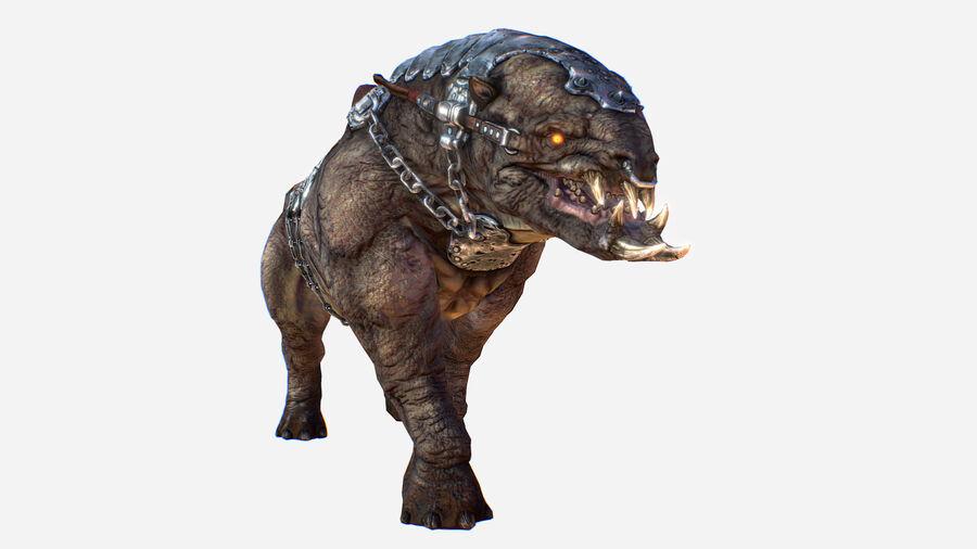 Creature mount Mastodont royalty-free 3d model - Preview no. 4
