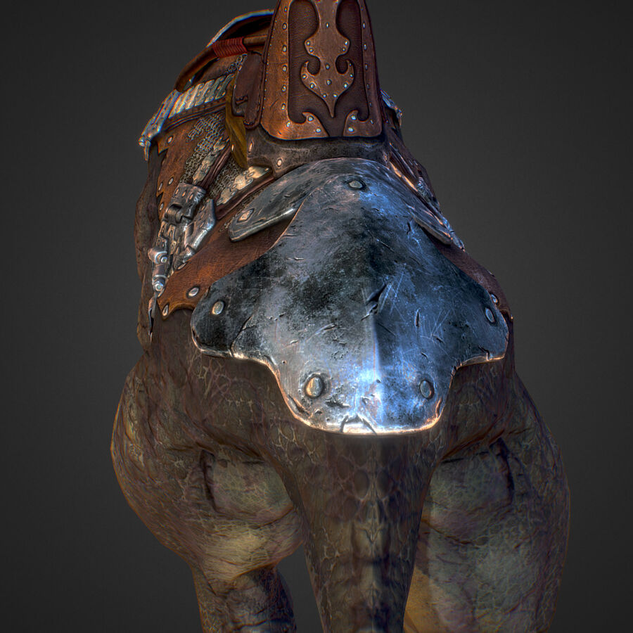 Creature mount Mastodont royalty-free 3d model - Preview no. 43
