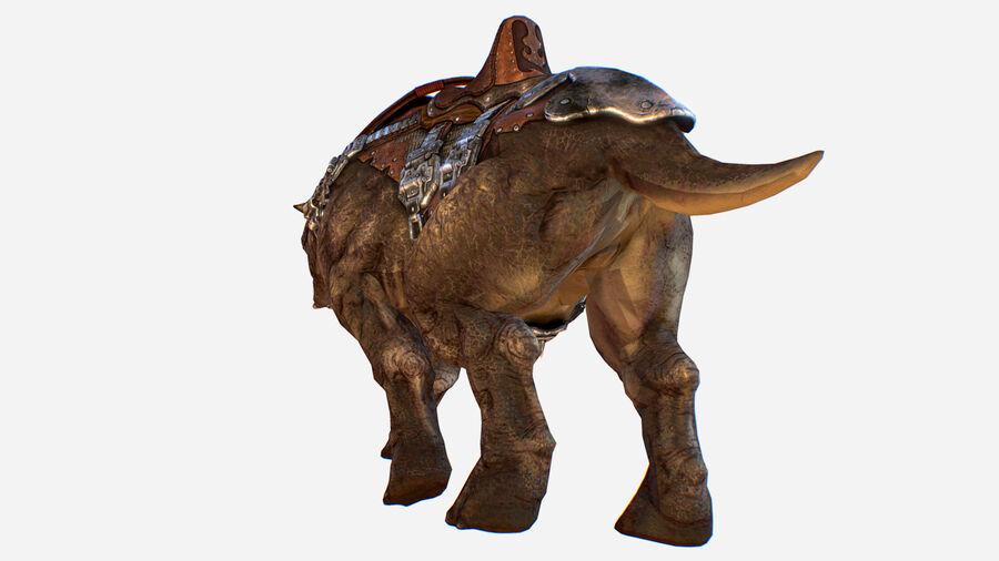 Creature mount Mastodont royalty-free 3d model - Preview no. 8
