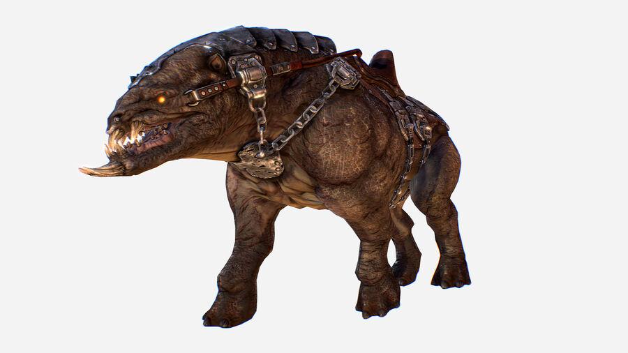 Creature mount Mastodont royalty-free 3d model - Preview no. 5